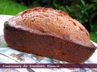 Financiers de Chocolate Blanco