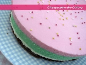 Rainbow Cheesecake para April's Kitch