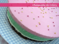 Rainbow Cheesecake per April's Kitch