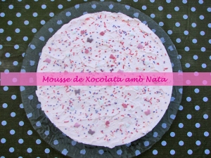 Mousse de Chocolate con Nata