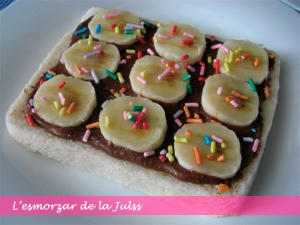 Pa + Nutella + Plàtan + Decoracions