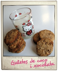 Galletas de chocolate y coco